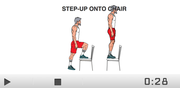 A 7 minute workout online.