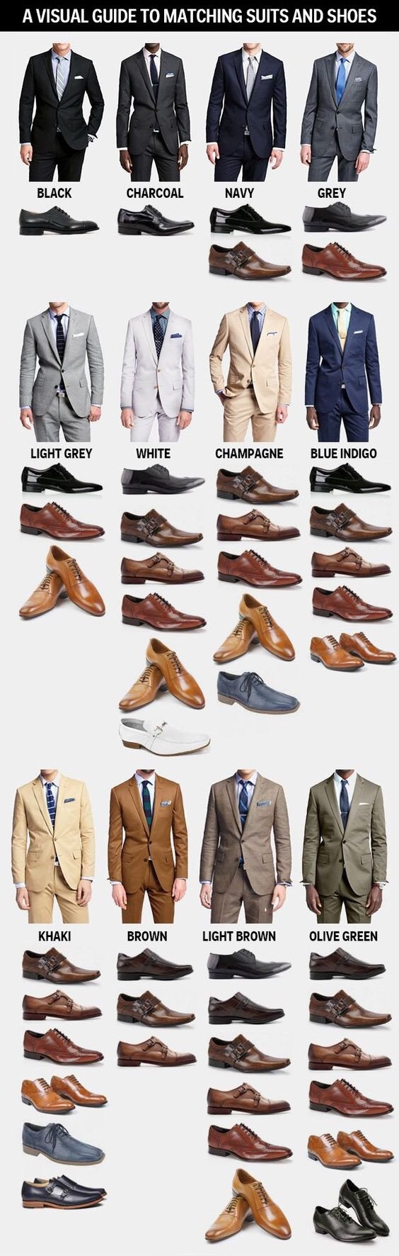 matching suits and shoes